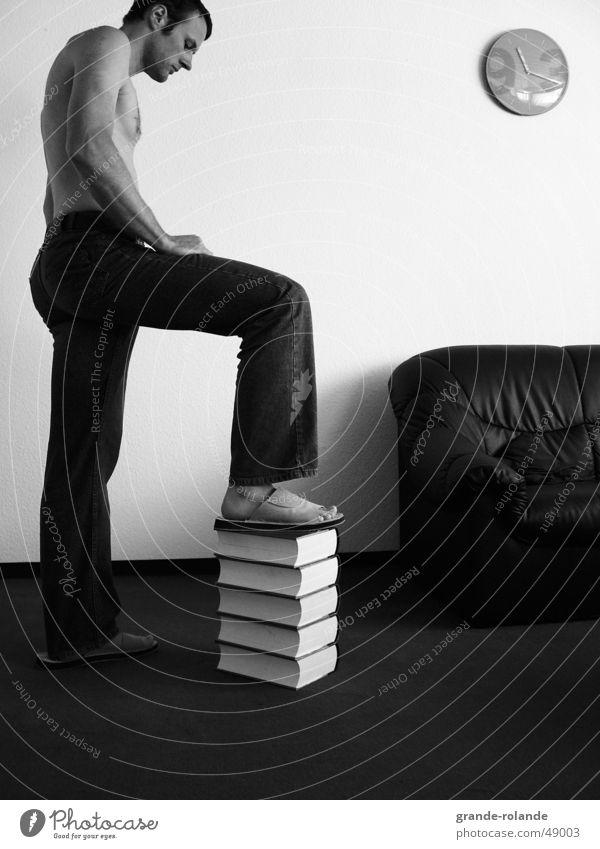 Wissen ist Macht Zeit Denken Mann Buch Arbeit & Erwerbstätigkeit brainstrorming nachdenken gedächniss wissen ist macht Eile