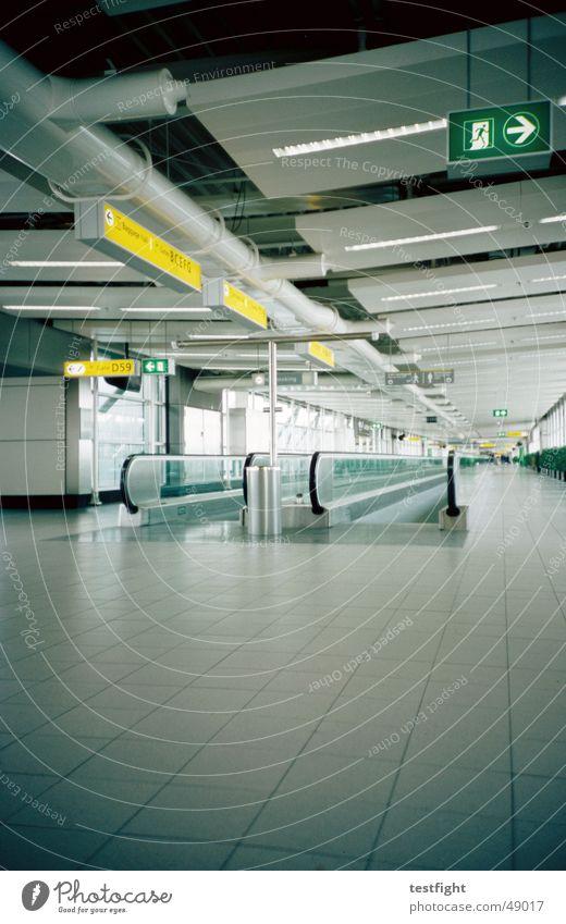 schiphol airport amsterdam Einsamkeit Gebäude Flugzeug Schilder & Markierungen leer Flughafen Wegweiser Niederlande Abdeckung Laufband Schiphol Flughafen