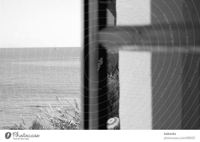 schau mal raus Wasser Sonne Meer Ferien & Urlaub & Reisen Fenster Aussicht