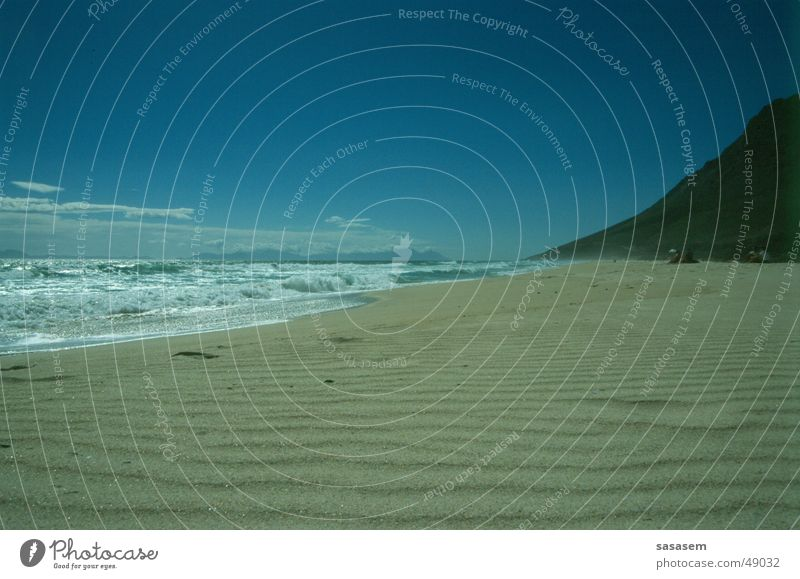 Strand, Kap der Guten Hoffnung Wasser Himmel Meer blau Einsamkeit Sand