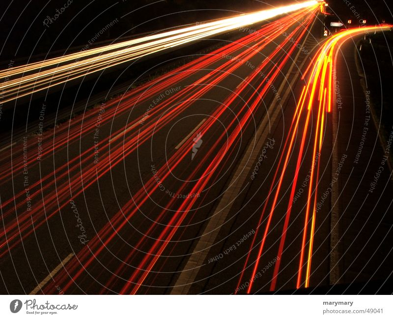 ausfahrt Nacht Autobahn Verkehr Licht Rücklicht Straße Ausfahrt street night cars traffic exit light Scheinwerfer