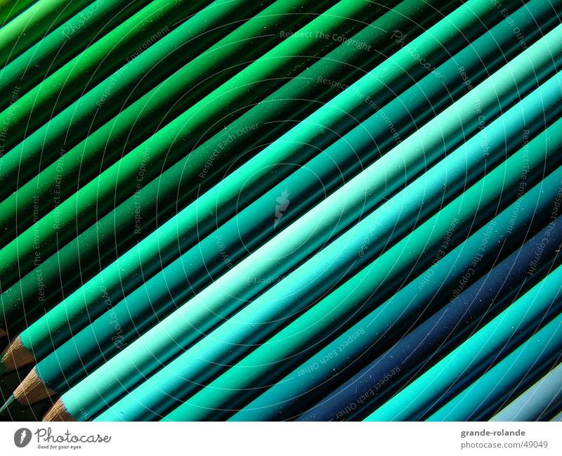 grün ist schön Schreibstift Kunst Auswahl Paletten diagonal Farbselektion Farbe Künstler zeichnen streichen zeichung