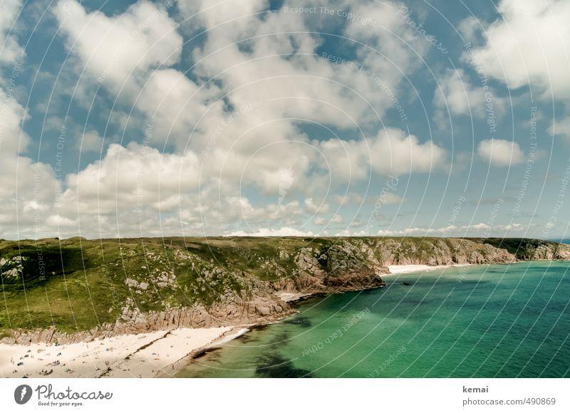 Heiter bis wolkig Himmel Natur Ferien & Urlaub & Reisen schön Wasser Sommer Meer Landschaft Wolken Strand Ferne Umwelt Küste Freiheit Sand Felsen