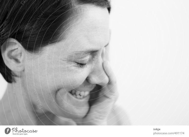 :-) Mensch Frau Freude Gesicht Erwachsene Leben feminin Gefühle lustig lachen natürlich Stimmung authentisch Lächeln Fröhlichkeit Kommunizieren