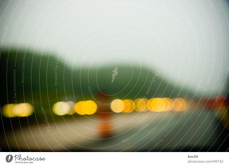lights trist Baustelle Autobahn trüb
