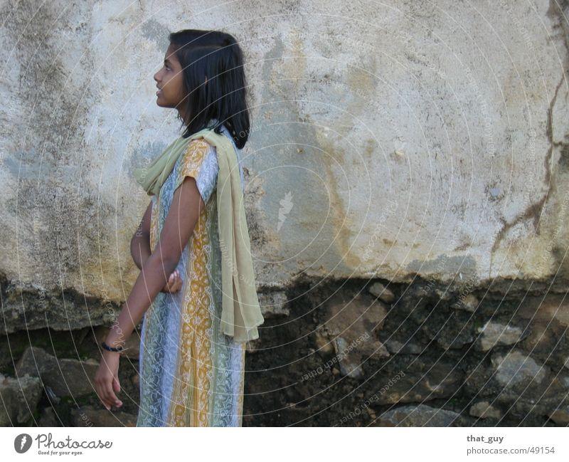Blick in die Zukunft Mensch Mädchen Wand Hoffnung Zukunft Indien Blick Umhang Hinduismus Sri Lanka