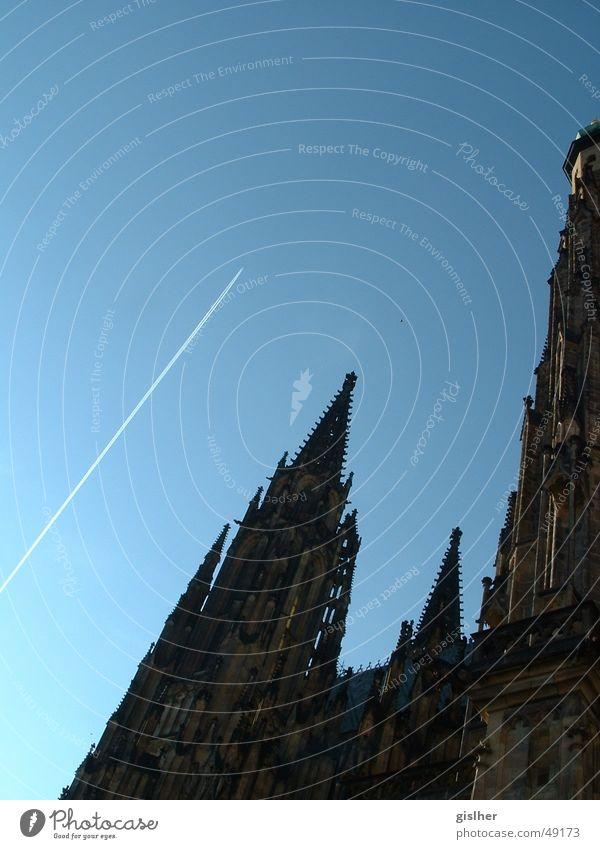 abflug Abdeckung Himmel Flugzeug sky church Religion & Glaube blau