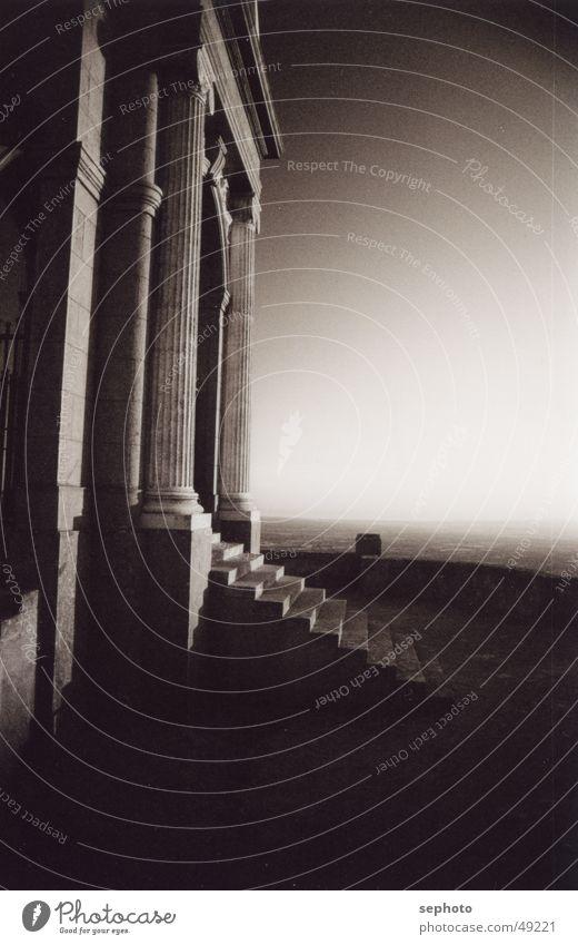 Himmelfahrt Himmel Sonne ruhig Haus Einsamkeit Berge u. Gebirge Gebäude Stimmung Treppe Säule antik Mallorca Kloster Gebetsstätte