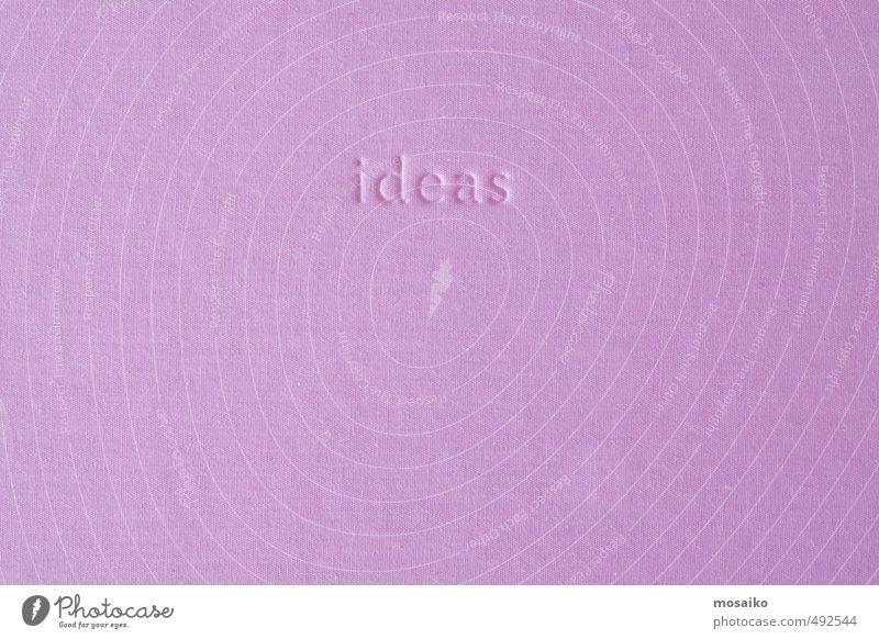 Denken Kunst rosa träumen Design Dekoration & Verzierung Kreativität Idee retro Symbole & Metaphern Material schäbig Tapete Inspiration Text Entwurf