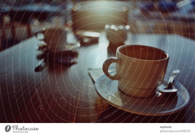 coffeeport Sonne ruhig Erholung Hintergrundbild Tisch Kaffee Küche Stuhl Sehnsucht Café Tasse Abschied Zucker Mallorca Löffel Espresso