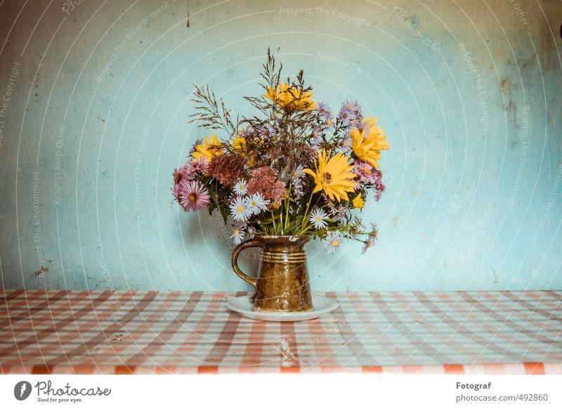 Blumen in Frankreich. Blumenstrauß Kitsch Krimskrams Fröhlichkeit Gelassenheit Duft Freude Gefühle Optimismus Ordnung schön Farbfoto Innenaufnahme