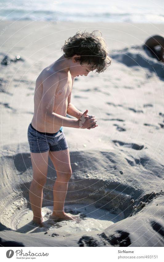 243 [Ursprünge] Mensch Kind Ferien & Urlaub & Reisen schön Wasser Sommer Meer Strand Leben Junge Spielen Schwimmen & Baden Glück Sand natürlich Freizeit & Hobby