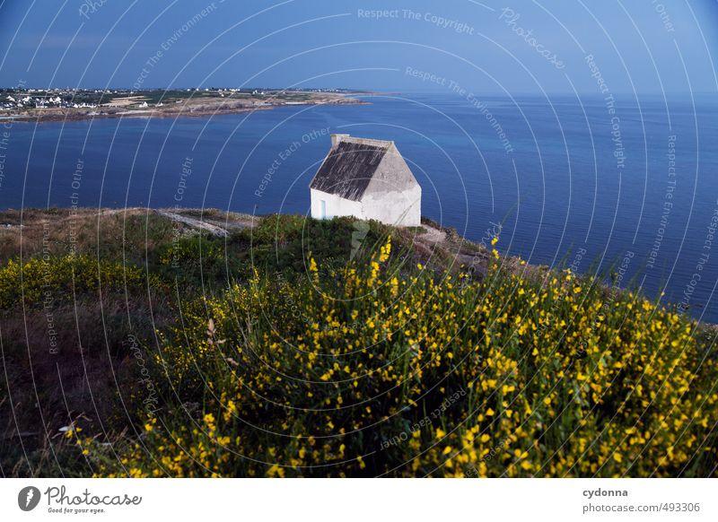 Bretagne Natur Ferien & Urlaub & Reisen Sommer Erholung Meer Einsamkeit Landschaft ruhig Haus Ferne Umwelt Küste Wege & Pfade Freiheit Horizont träumen