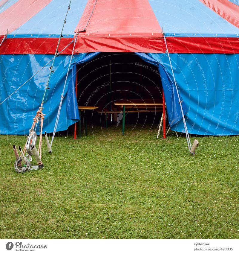 Manege frei Abenteuer Expedition Entertainment Veranstaltung Feste & Feiern Jahrmarkt Umwelt Sommer Gras Wiese Beginn Erwartung exotisch geheimnisvoll Idee