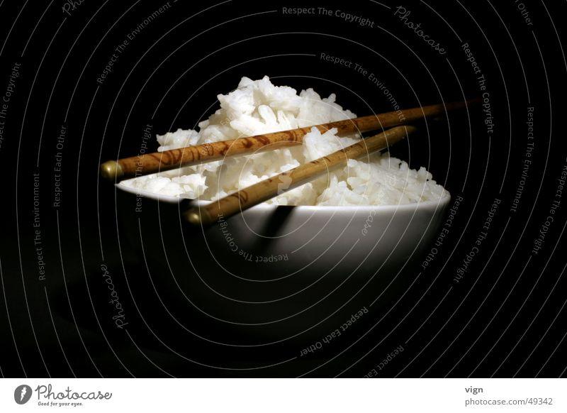 Reisschale weiß Ernährung China Schalen & Schüsseln Chinesisch Essstäbchen