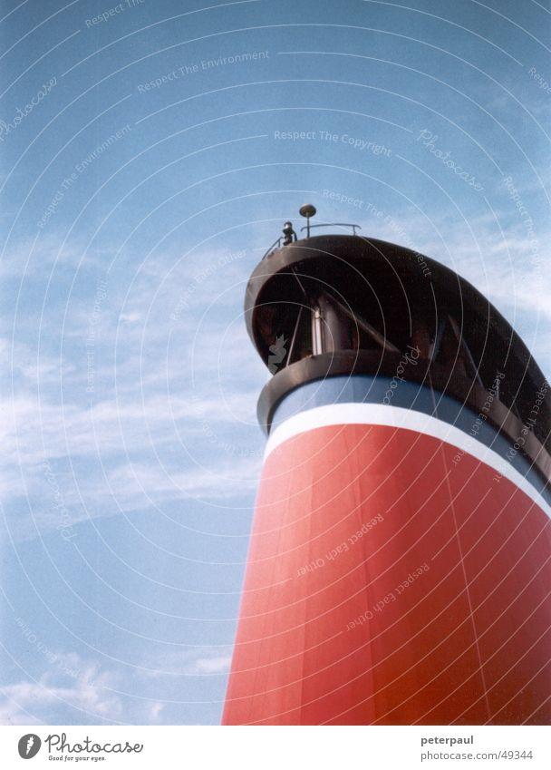 Überfahrt Himmel weiß blau rot Wasserfahrzeug Ostsee Schweden Fähre Skandinavien