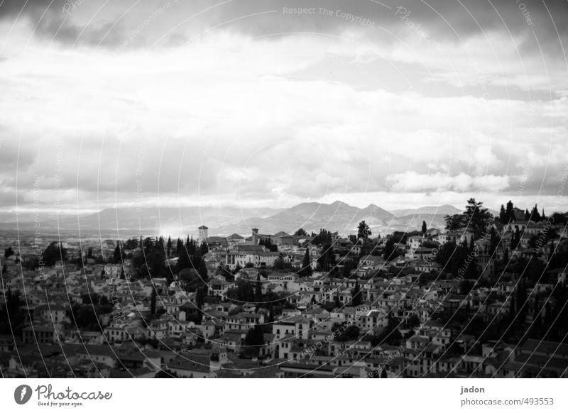 Granada Design Tourismus Ferne Sightseeing Berge u. Gebirge Häusliches Leben Wohnung Baustelle exotisch Kraft Romantik schön Sehnsucht einzigartig Ewigkeit
