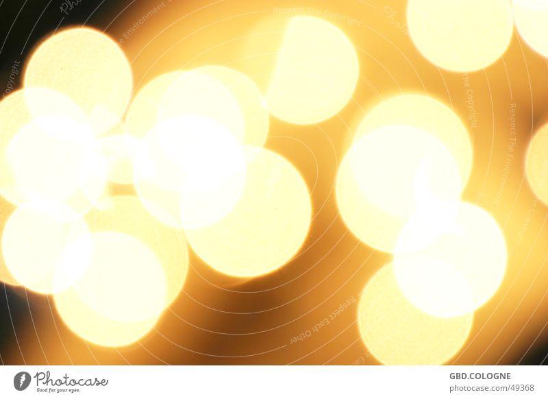 Lichterkette Winter gelb Wärme Lampe Hintergrundbild Stimmung Dekoration & Verzierung Kerze Physik Nachtaufnahme