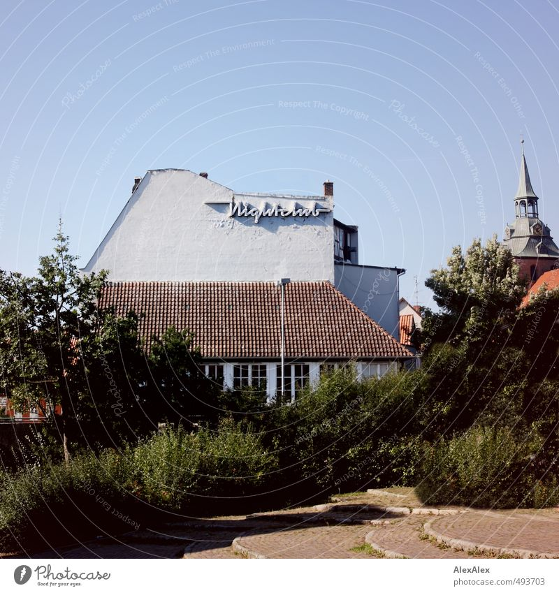 Nightclub Stadt Baum Landschaft Haus Wand Erotik Mauer Gebäude Feste & Feiern Stimmung Fassade Sträucher Ausflug Dach retro Neugier