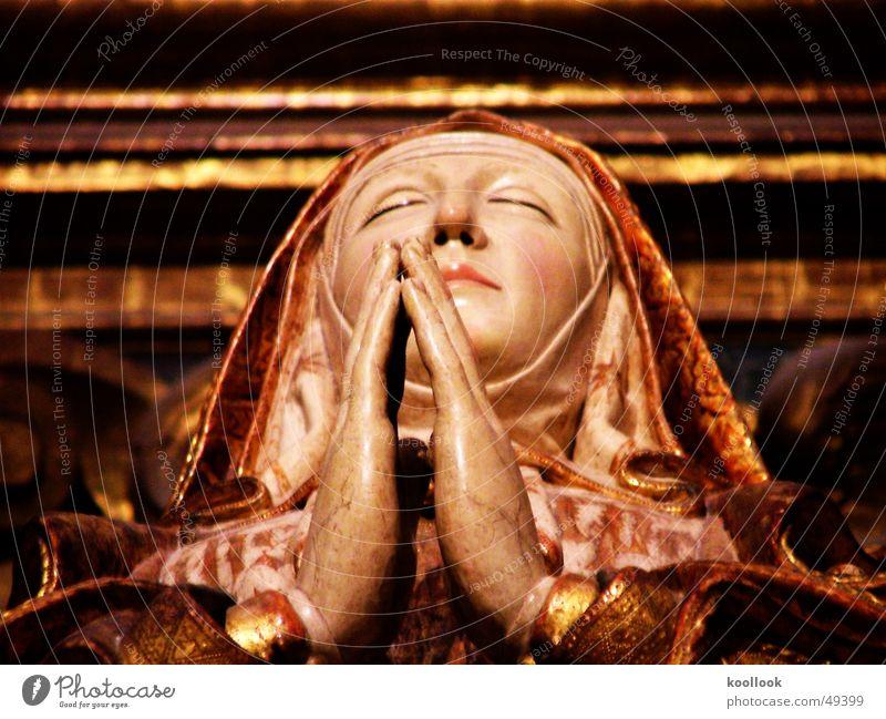 maria Maria heilig Gebet liegen alt Religion & Glaube Kathedrale