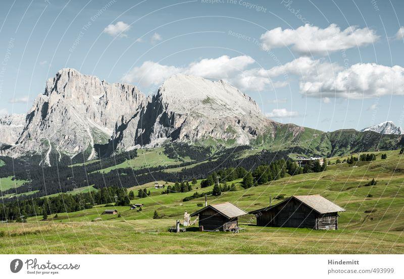 Steine im Vorgarten (3) – und Schluss Umwelt Natur Landschaft Himmel Wolken Sommer Wetter Schönes Wetter Wiese Wald Hügel Felsen Alpen Berge u. Gebirge Gipfel