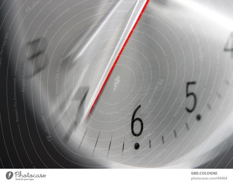 """""""19:35 Uhr"""" Zeitmaschine Technik & Technologie Metall Ziffern & Zahlen Kommunizieren planen Bildausschnitt Uhrenzeiger Zifferblatt Eile Aluminium 6"""