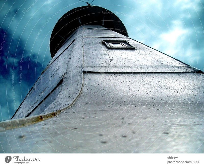 Lighthouse of Santa Luzia Himmel lighthouse sky blue santa suzia angle perspective