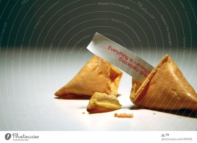 Successful times! Glückskeks Keks Backwaren Kuchen Ernährung China Chinese Wahrsagerei Horoskop Zukunft Beruf privat Redewendung fortune coockie Erfolg Zettel