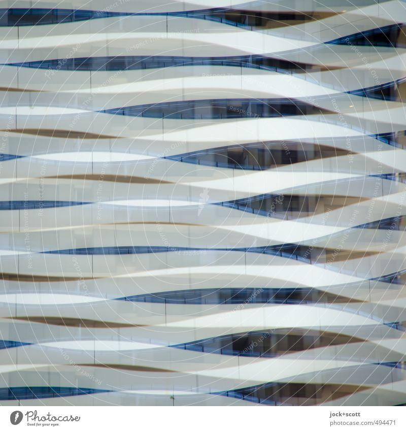 sideswipe Architektur Gebäude Fassade Beton Linie Streifen Bewegung außergewöhnlich modern nerdig weich Stimmung Verschwiegenheit Toleranz beweglich ästhetisch