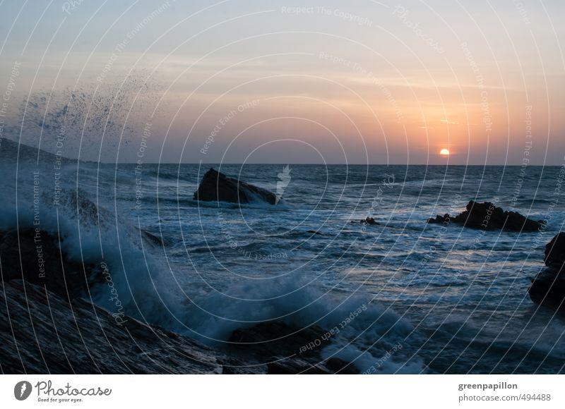 Meeresrauschen Natur Ferien & Urlaub & Reisen Sommer Wasser Sonne Erholung Landschaft ruhig Strand Küste Schwimmen & Baden Felsen wild Wellen Kraft
