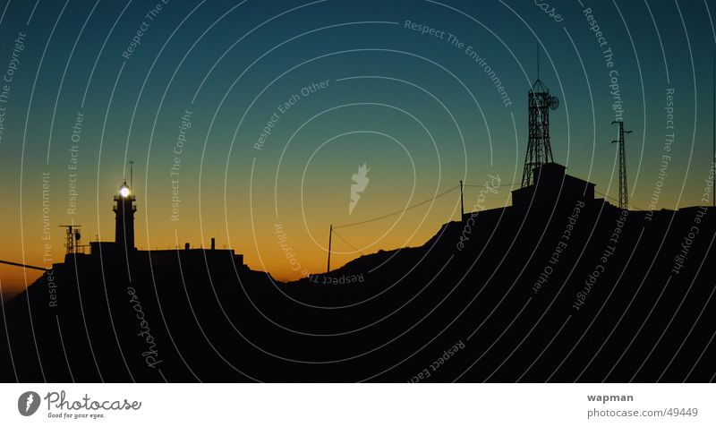 el faro Meer Spanien Leuchtturm Cabo de Gata