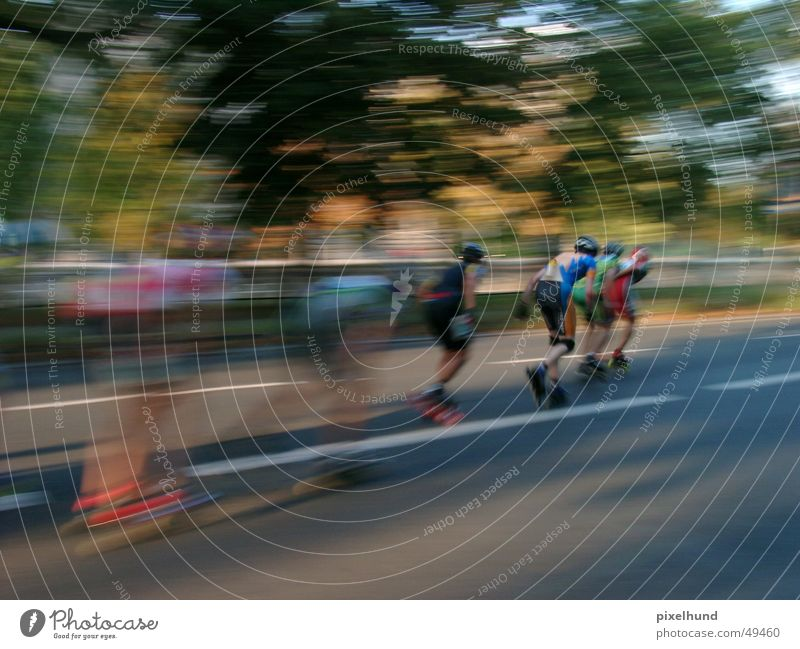 Berlin Marathon - skater 05 Inline Skating September Nachmittag mehrfarbig Sport rennen Sonne