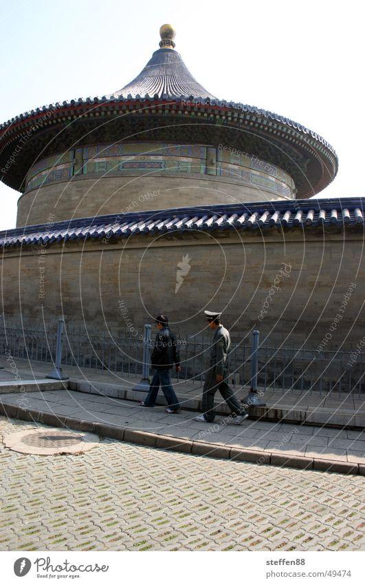 Rundgang laufen Spaziergang Turm China Tempel