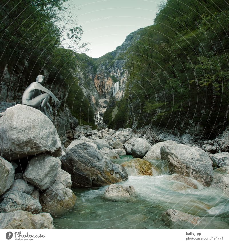 slap boca Mensch Natur Mann Wasser Pflanze Baum Landschaft Tier Wald Erwachsene Umwelt Berge u. Gebirge grau Stein Felsen Luft