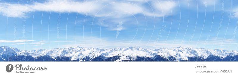Gerlos 2005 Himmel blau weiß Ferien & Urlaub & Reisen Winter Wolken Berge u. Gebirge Alpen Österreich