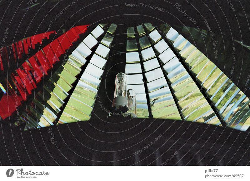 Leuchtturm inneres Wasser weiß blau rot Sommer Ecke Leuchtturm Ostsee Prisma Kaleidoskop