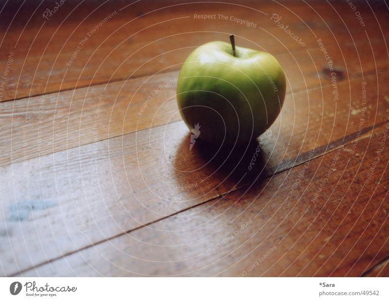 grün grün Holz Bodenbelag Apfel Gesunde Ernährung Holzfußboden Maserung