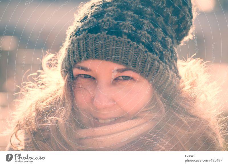 Winter's coming! Mensch Frau Jugendliche schön Junge Frau Winter Gesicht Erwachsene feminin Herbst Haare & Frisuren Stil Kopf Mode Eis blond