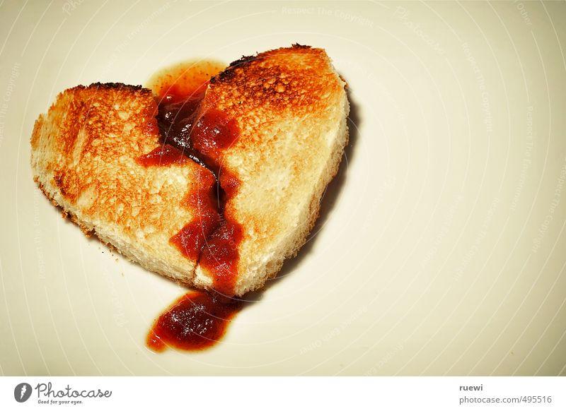 Brichst Du mir das Herz, dann brech' ich Dir die Beine! Lebensmittel Brot Toastbrot Ketchup Ernährung Frühstück Fastfood Gesundheit Gesundheitswesen Behandlung
