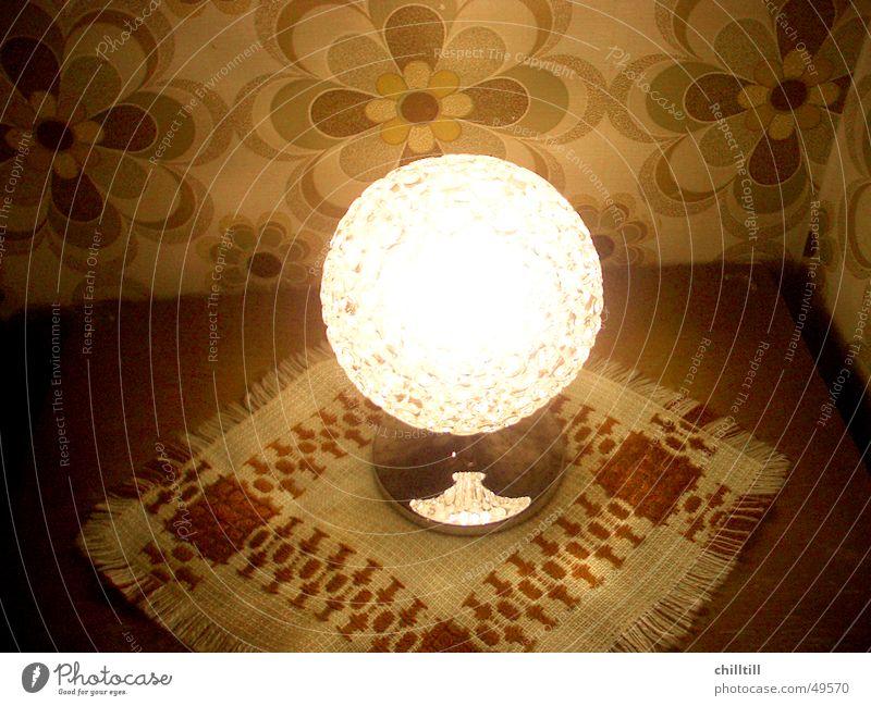 Retro Lampe retro Siebziger Jahre Glühbirne alt tappete