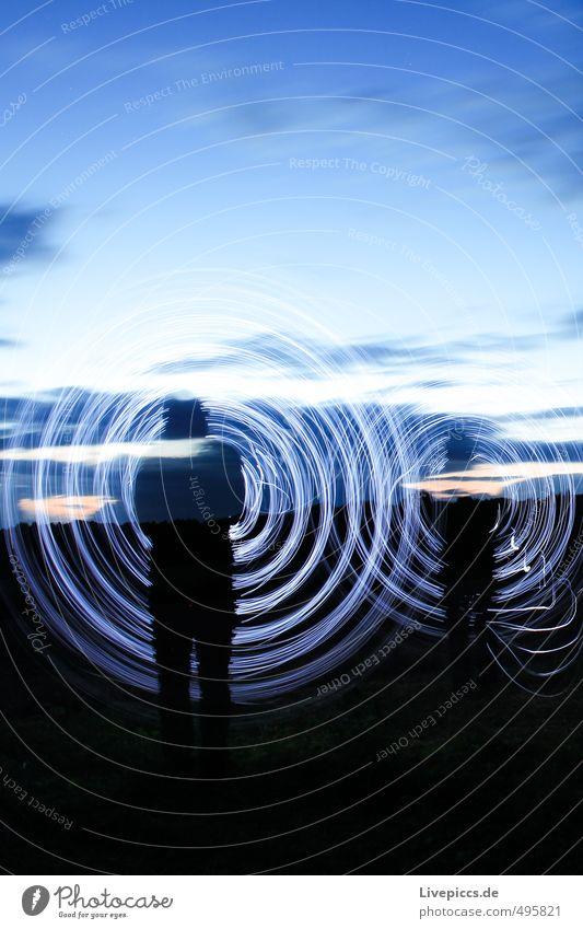 shadow rodden Mensch maskulin Mann Erwachsene 1 30-45 Jahre Kunst Künstler Maler Umwelt Natur Landschaft Himmel Wolken Sonnenlicht Sommer Feld Bewegung drehen