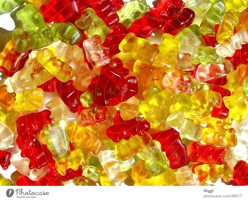 Bären-Rudel weiß grün rot gelb orange süß Süßwaren Gummibärchen Gelatine