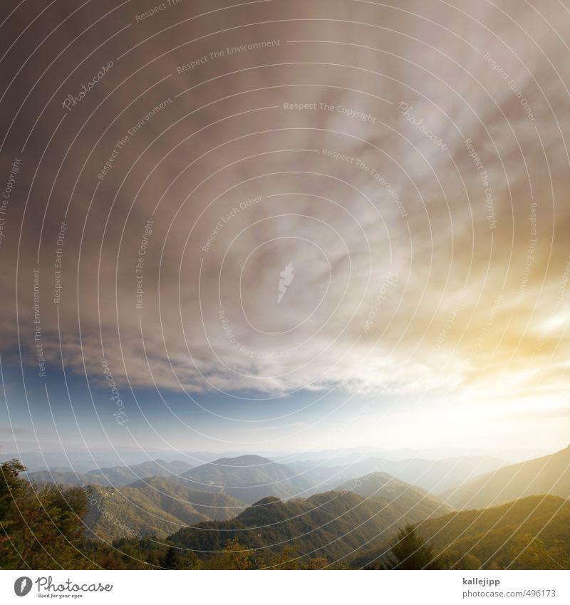 blauer himmel 16:9 Umwelt Natur Landschaft Pflanze Tier Schönes Wetter schlechtes Wetter Alpen Berge u. Gebirge Gipfel Ferne frei Tal Horizont Himmel (Jenseits)