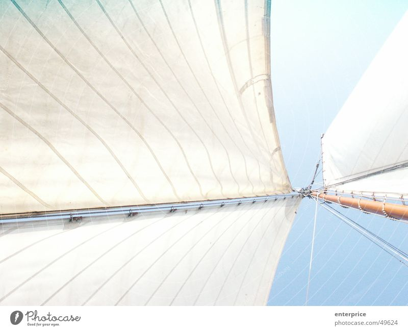 Himmelwärts_02 weiß blau dunkel oben Luft Wasserfahrzeug hell Kraft Wind Seil Geschwindigkeit Elektrizität weich fest Unendlichkeit