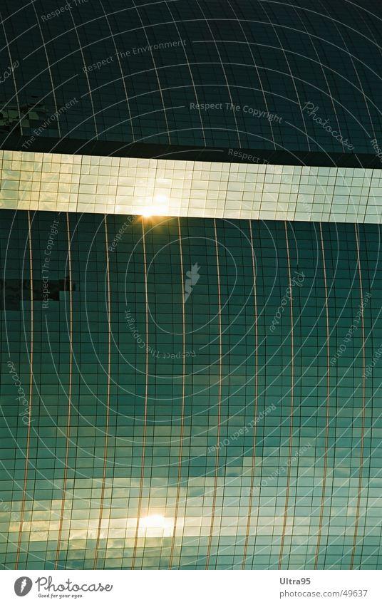 sonnenbahn Wasser Sonne Fenster Glas Hochhaus Fassade Schwimmbad Glasfassade Bangkok