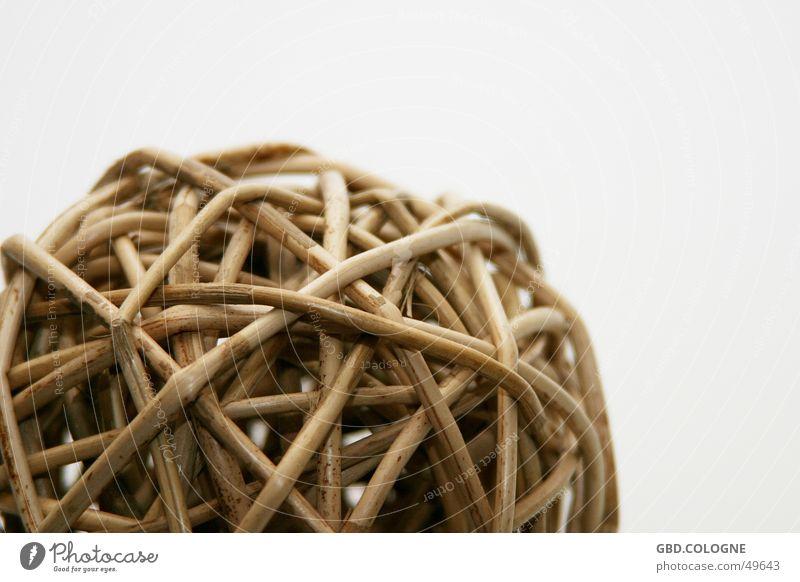 Im Netz gefangen... Pflanze braun rund Dekoration & Verzierung Kugel beige getrocknet netzartig Weidengeflecht