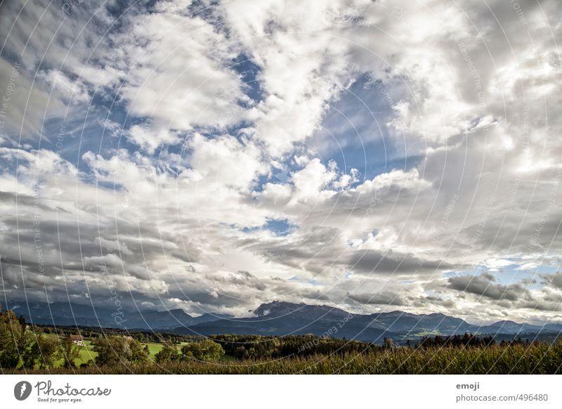 Wetterumschwung Himmel Natur blau Landschaft Wolken Umwelt Berge u. Gebirge natürlich Unwetter Schweiz Klimawandel Pilatus