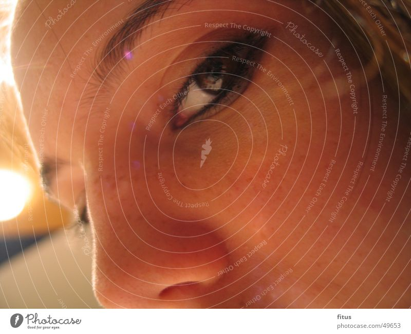 verführerische Augen Frau feminin