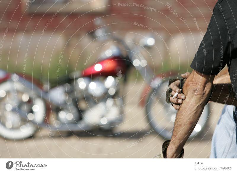 Time to smoke Motorrad Pause Route 66 Amerika harley USA Chopper Coolness harley-davidson Freiheit Rauchen