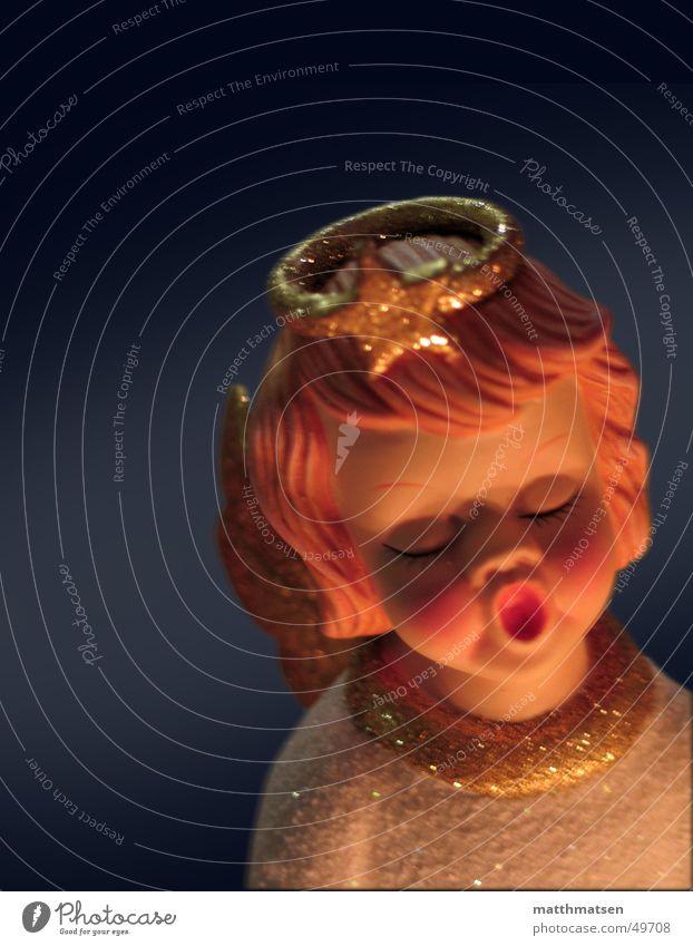 Oh du Fröhliche Gesang bedächtig Physik Geborgenheit dunkel glänzend Licht singen Frieden Dinge Weihnachten & Advent Engel Wärme Stern (Symbol) Puppe Freude
